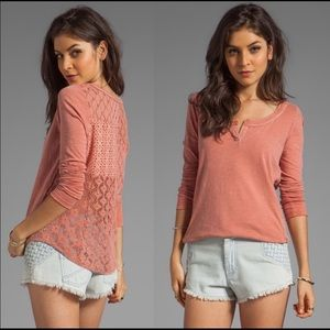 Free People | patches of lace mauve top